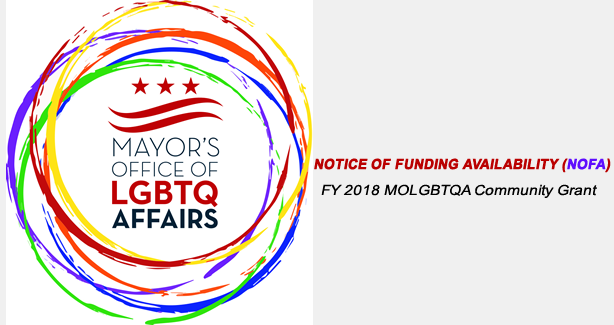 APPLY NOW: FY 2018 LGBTQ Community Grant