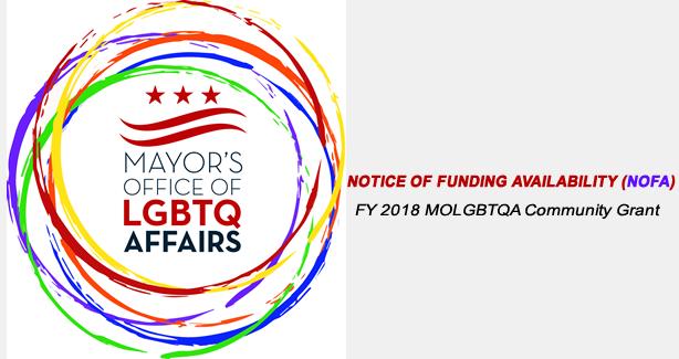 APPLY NOW: FY 2018 LGBTQ Community Grant