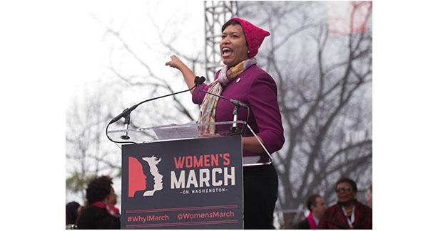 Mayor Bowsers at Women's March on Washington