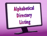text Alphabetical Directory Listing with computer monitor
