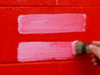 painted equal sign