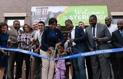 Ribbon cutting at the Sterling