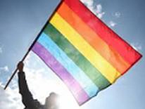 Rainbow flag waving